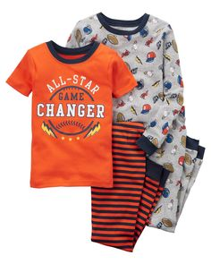 Carters Little Boys All-Star Pajama Set Toddler Pajamas, Boys Pajamas, Toddler Boys, Toddler Underwear, Boys Sleepwear, Carter Kids, Girls Fleece, Cotton Pyjamas, Little Girl Outfits
