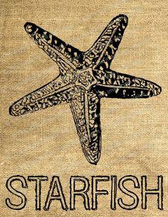 Burlap starfish