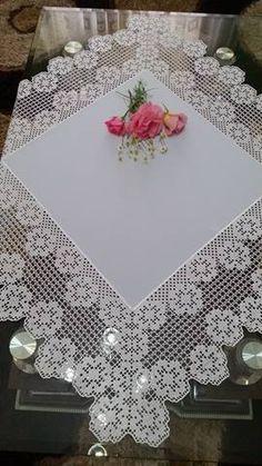 Unique Filet Crochet Table Center Decor | Crochet Filet
