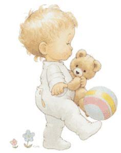 bebe con pelota Bebes en imagenes animadas