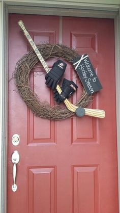 Welcome to Hockey Season wreath....                                                                                                                                                                                 More