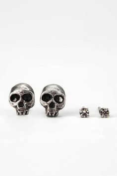 Itty Bitty Skull Earring Set #urbanoutfitters