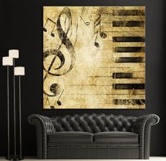 Image result for diy canvas paint ideas music