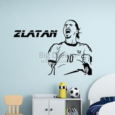 Find More Wall Stickers Information about 2016 New design Zlatan Ibrahimovic…