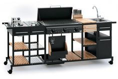 BST Magnum outdoor Kitchen for the thorough Barbecue Experience Modern Outdoor Kitchen, Modular Outdoor Kitchens, Outdoor Rooms, Ikea Outdoor, Design Barbecue, Grill Design, Mens Kitchen, Built In Braai, Modern Small House Design