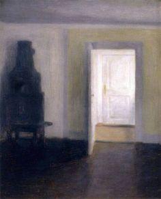 Vilhelm Hammershøi, Interior, Albertines Lyst, Lyngby on ArtStack #vilhelm-hammershoi #art