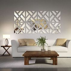 The Mirrored Chevron Print Wall Decoration is a beautiful decorative addition to any room in your home. It is easy to install and adds a very classy touch to any decor.