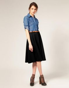 Eté 2012 : une jupe plissée mini, midi ou maxi?