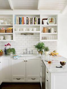tiny home painting kitchen cabinets White Kitchen - Kitchen Design Pictures open shelving, white kitchen kitchen Küchen Design, Home Design, Layout Design, Design Ideas, Graphic Design, Design Inspiration, Interior Inspiration, Modern Design, Wedding Inspiration