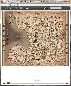 Az Óvilág térképe #regény #könyv  #ekönyv #ebook#holdsarló #fénye #teljes #történet #robert #locksmith #térkép #világtérkép #Erabon #óvilág Reading Help, Vintage World Maps, Digital