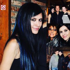 #fun at the #company #party #partygirl #partytime #bluehair #beauty #young #girl