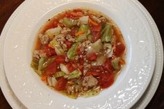 This quick and easy cabbage roll soup recipe with ground turkey is a simple alternative to making cabbage rolls and just as delicious! A healthy dinner soup Gf Recipes, Clean Eating Recipes, Soup Recipes, Cooking Recipes, Healthy Recipes, Healthy Food, Paleo Ideas, Chili Recipes, Salad Recipes