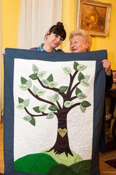 Family tree Quilt. $200.00, via Etsy.
