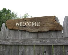 Barn board Welcome Sign - Rustic Home Decor - Reclaimed Wood Signs