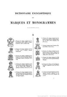 Premiere marque de 1838 les marques et signatures sur for Dictionnaire des architectes