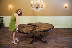 Large Round Dining Room Table Luxury Round Walnut Dining Room Table with Leaves Seats 6 White Round Kitchen Table, Kitchen Chairs For Sale, Large Round Dining Table, Dining Room Furniture Sets, Dining Room Sets, Dining Room Chairs, 12 Person Dining Table, Dining Table Design, Luxury Dining Room