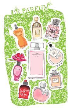 PERFUME BOTTLE :: Le Parfum Illustration - by Alek Sia