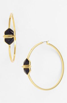 Vince Camuto 'Hidden Gems' Hoop Earrings | Nordstrom
