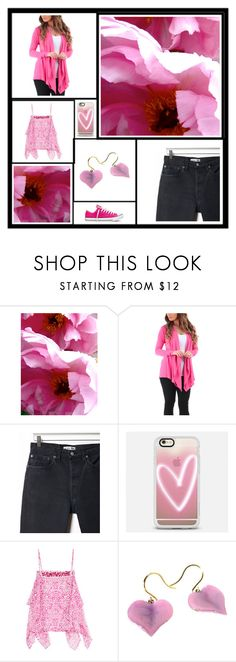 """""""Casual Pink"""" by jillsjoyagol ❤ liked on Polyvore featuring WALL, RE/DONE, Casetify, Etro and Converse"""