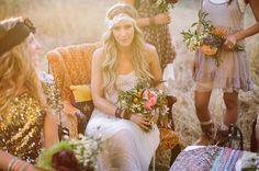 Bohemian Wedding Headband Ivory Bridal Head Piece door ThreeBirdNest, $34.00