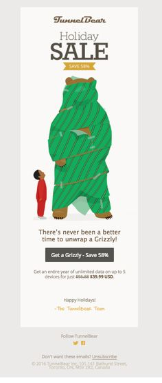TunnelBear Holiday Sale!