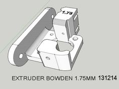 A direct drive bowden extruder for 1.75mm by depri51giu - Thingiverse