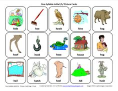 Testy yet trying: Initial H: Free Speech Therapy Articulation Picture Cards