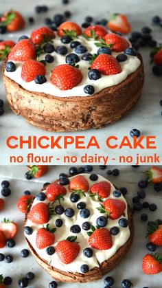 A healthy cake recipe that's vegan and gluten-free. Chickpeas are used so this cake is bursting with fibre and protein. Try this simple gluten free cake glutenfree healthycake cake healthy 431290101814663034 Gluten Free Cakes, Gluten Free Desserts, Healthy Desserts, Gluten Free Tart Recipe, Gluten Free Vegan Cake, Summer Desserts, Healthy Cake Recipes, Whole Food Recipes, Healthy Chickpea Recipes