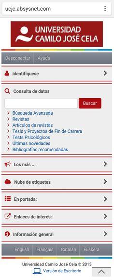 Universidad Camilo José Cela Camilo Jose Cela, Magazine Articles, University, Universe, Cover Pages