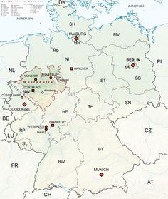 Kleff Kleve Kleef Clivia NordrheinWestfalen Kreis Kleve - Germany map nrw