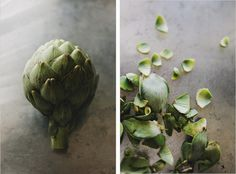 Artichokes food-styling
