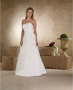 Sweetheart cut, A-line, wedding dress