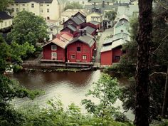 Porvoo - the second oldest city in Finland. It harmoniously combines past and present. The city is situated on the banks of the river Porvoo Helsinki, Time Travel, Denmark, Interior And Exterior, Scandinavian, Garden Design, Patio, Mansions, Country