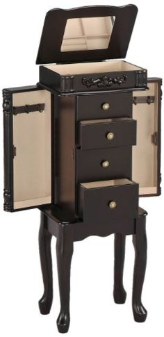 Avalon Jewelry Armoire in Cherry Finish by Mele Co Jewelry