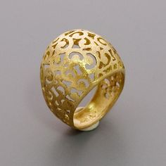 Gold Lace Ring   Handmade 14K Yellow Gold Plated by toolisjewelry, $85.00