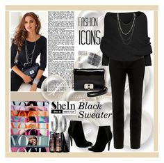 """Black Sweater"" by lovee39 ❤ liked on Polyvore featuring TIBI, Diane Von Furstenberg, ALDO, Lane Bryant, Lancôme and House of Harlow 1960"