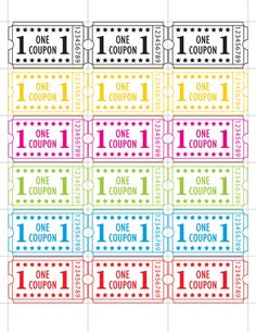 DIY: Carnival Ticket Printables | Printable tickets, Carnival ...