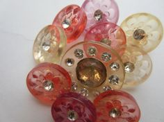 Vintage Buttons....but of course...pink!