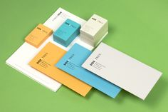 Logotype and stationery set designed by Comite for business and brand communication consultancy Dosatres
