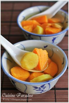Cuisine Paradise | Singapore Food Blog - Recipes - Food Reviews - Travel: [Dessert] Sweet Potato Soup