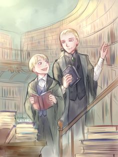 a friend of mine on twitter requested that I draw Daddy Draco and his young…