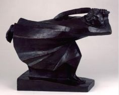 """""""The Avenger"""" by Erst Barlach. 1914, bronze. In the collection of The Ringling Museum of Art, Sarasota, FL."""