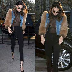 Kendall Jenner chegando pra almoçar hoje no L'Avenue e reforçando a trend das estrelas! Curtiram o look? Acho que as estrelinhas estrategicamente posicionadas serão o look do carnaval que tal? #kendalljenner #paris #carnaval