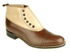 Leather Spectator Spat Boots - Brown/Taupe from Gentleman's Emporium