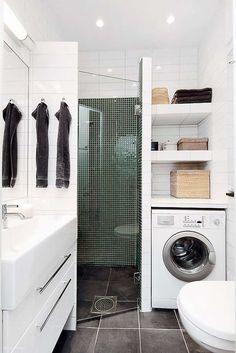 lave linge petite salle de bains creer espace buanderie