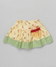 Yellow & Green Spring Skirt - Infant, Toddler & Girls by Western Border #zulily #zulilyfinds