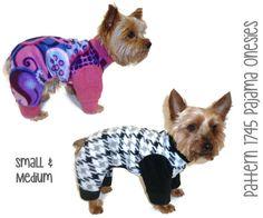 Dog Pajama Onesie Pattern 1745 * Small & Medium * Dog Clothes Sewing Pattern * Dog Pajamas Pattern * Dog Onesies * Dog PJs * Dog Apparel