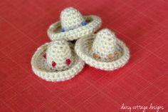 Mini Sombrero Free Crochet Pattern...these are adorable!!