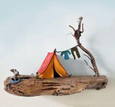 Christine Grandt - Treibholzkunst, maritime Geschenke, Miniaturen, Skulpturen aus Schwemmholz für die Wand oder zum Hinstellen