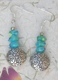By the Sea -- Aqua and Silver, Fabulous Dangles Clear Glass, Glass Beads, Silver Plate, Dangles, Aqua, Drop Earrings, How To Make, Etsy, Jewelry